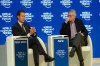 El Presidente de México, Enrique Peña Nieto en el World Economic Forum (WEF), Devos. Foto: Presidencia.
