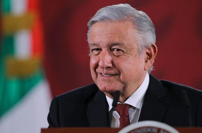 El presidente Andrés Manuel López Obrador durante sesión de preguntas y respuestas en la conferencia matutina