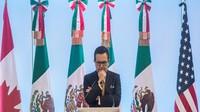 Ildefonso Guajardo, Secretario de Economía, durante la conferencia de prensa sobre las conclusiones de la séptima ronda del Tratado de Libre Comercio de América del Norte