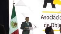 El presidente de la Comisión Nacional Bancaria y de Valores (CNBV), Bernardo González Rosas, durante la 12 convención de la Asociación de Sociedades Financieras de Objeto Múltiple