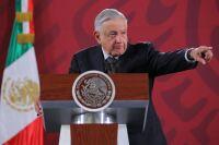 El presidente Andrés Manuel López Obrador durante sesión de preguntas y respuestas en su conferencia matutina