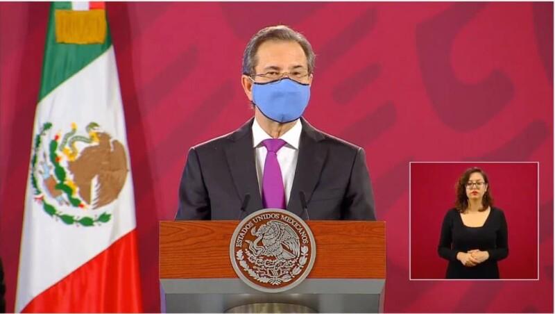Esteban Moctezuma Barragán, titular de la SEP en la conferencia matutina.