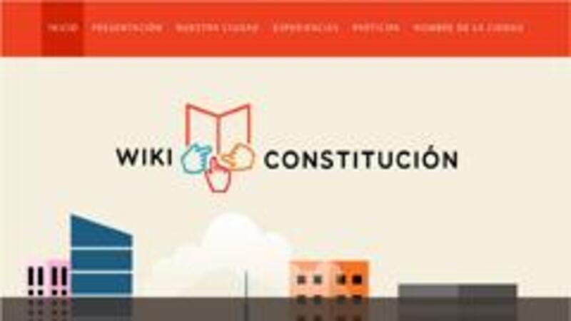 Portada del sitio WikiConstitución (Foto: Senado de la República, Comisión del Distrito Federal)