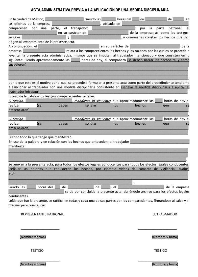 Eficacia De Las Actas Administrativas En Juicios Laborales Idc