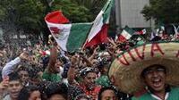 Festejos de aficionados mexicanos (Foto: Notimex)
