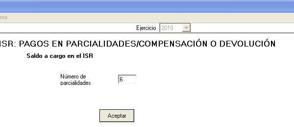 isr (compensación/devolución)
