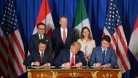 Los líderes de los tres países se congratularon por la suscripción del nuevo acuerdo, que fortalecerá la integración comercial de América del Norte.