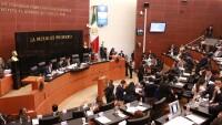 Aspectos de la sesión del Senado de la República.