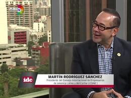 con Martín Rodríguez Sánchez presidente de COINE