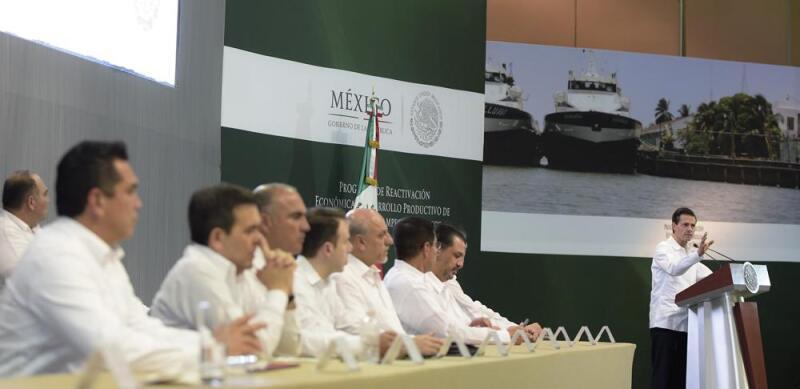 El Presidente Enrique Peña Nieto en Tabasco. (Foto: Cuartoscuro)