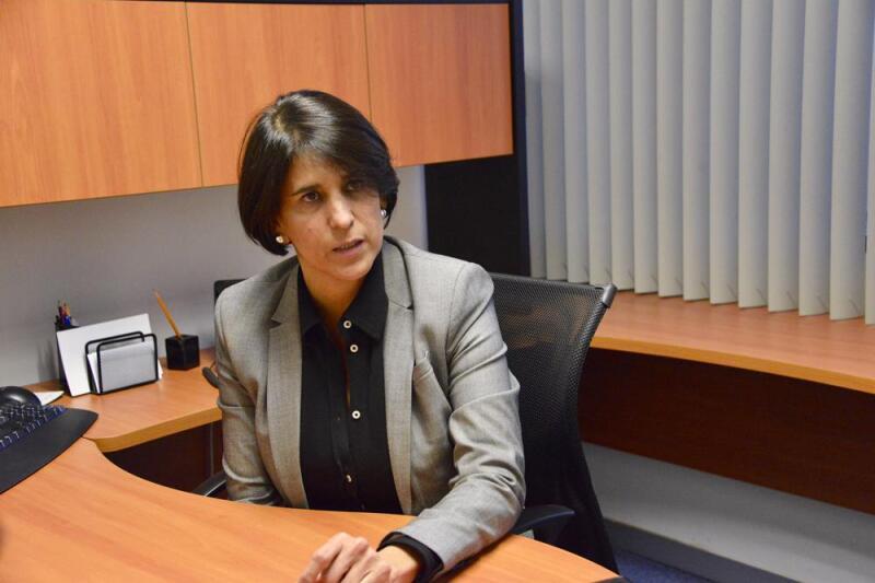 La titular de la Unidad de Enlace de la Reforma de Justicia Laboral, Ángela Quiroga Quiroga (Foto: Comunicación Social)