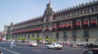 Vista del Palacio Nacional en el Zócalo capitalino