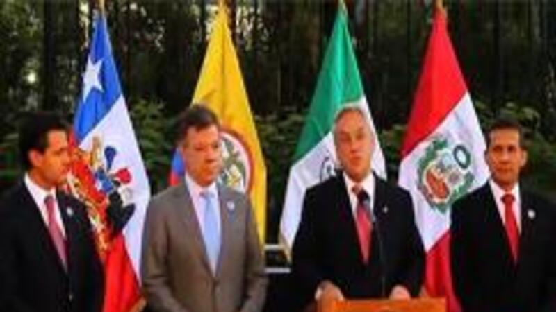 Los presidentes de México, Enrique Peña; Colombia, Juan Manuel Santos; Chile, Sebastián Piñera; y Perú, Ollanta Humala