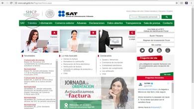 En el portal del SAT ingresar a la pestaña de trámites