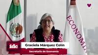 con Graciela Márquez Colin secretaria de economía