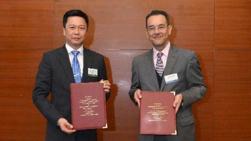 Jimmy Y K Tam, Subdirector Adjunto de Apoyo Estratégico de Hong Kong y de México, Luis Eduardo Lara Gutiérrez del SAT (Foto: Comunicación Social)