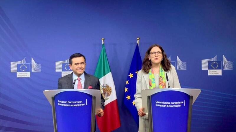 Anuncia el Secretario Guajardo inicio de negociaciones para la modernización del TLCUEM (Foto: Comunicación Social Secretaría de Economía)