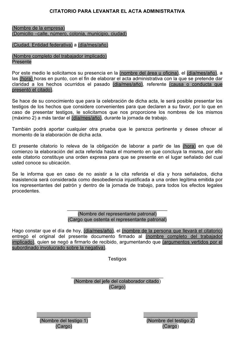 Eficacia de las actas administrativas en juicios laborales | IDC