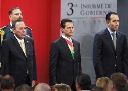 El presidente Enrique Peña Nieto, durante el tercer informe de gobierno (Foto: Notimex)
