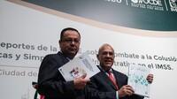 """El documento """"Simplificación Administrativa en el Instituto Mexicano del Seguro Social"""", presentado por el secretario general del OCDE, Ángel Gurría y el director del IMSS Germán Martínez Cázares."""