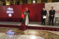 El presidente Andrés Manuel López Obrador y el titular del Infonavit, Carlos Martínez Velázquez