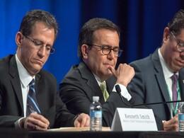 La delegación mexicana encargada de la modernización del TLCAN, encabezada por el secretario de Economía, Ildefonso Guajardo