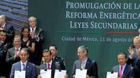 El presidente Enrique Peña Nieto promulgó las leyes secundarias de la reforma energética (Foto: Notimex)