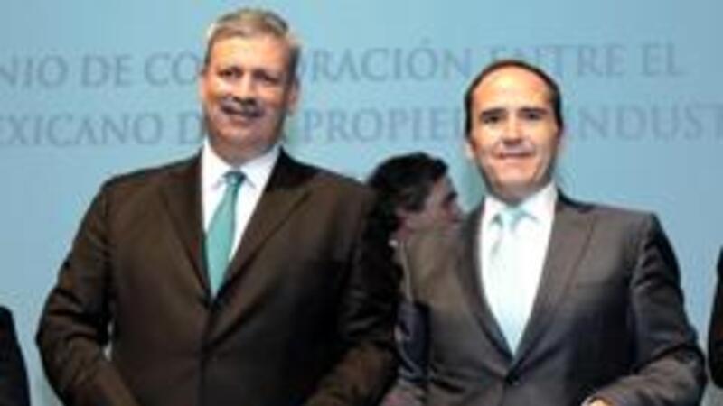 Francisco González Díaz, Director de ProMéxico y Miguel Ángel Margaín,  titular del IMPI (Foto comunicación ProMéxico)