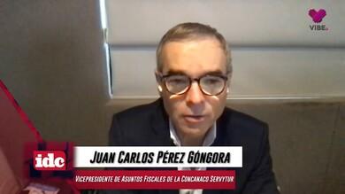 con Juan Carlos Pérez Góngora Vicepresidente de asuntos fiscales de la CONCANACO SERVYTUR