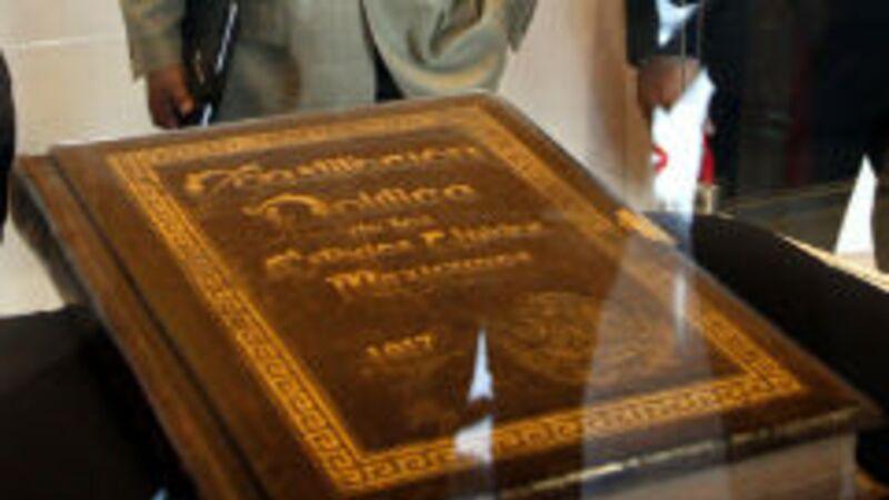 Constitución Política de los Estados Unidos Mexicanos. (Foto: Notimex).