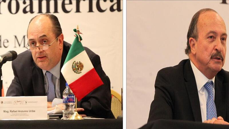 Magistrados Rafael Anzures Uribe y Carlos Chaurand Arzate. Foto: TFJA.